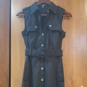Black trench style safari dress